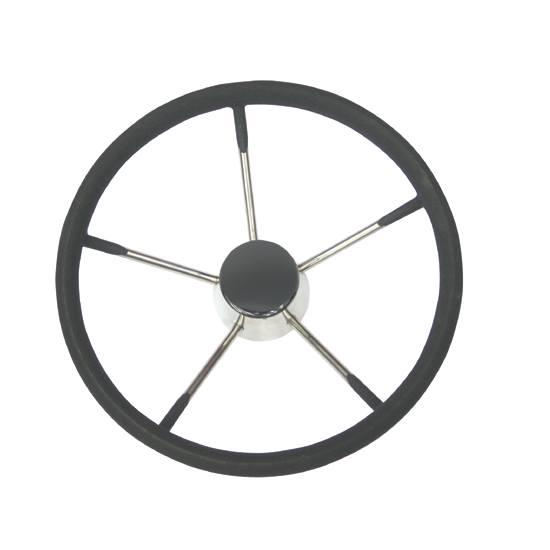 steuerung-lalizas-wheel-343-mm-stainless-steel-with-black-foam