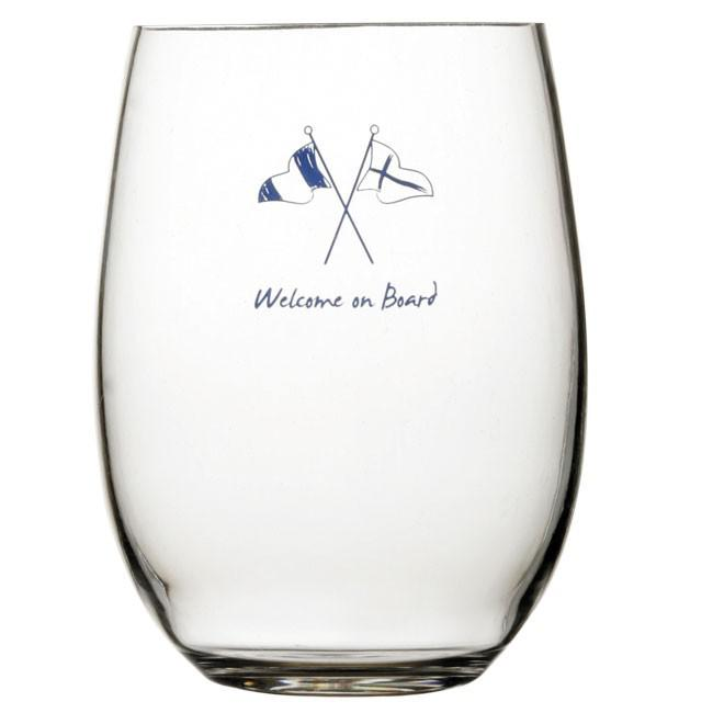 Marine business Welcome On Board Beverage Glass