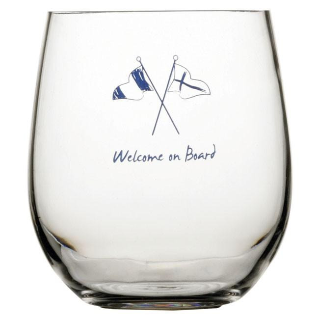 Marine business Welcome On Board Water Glass