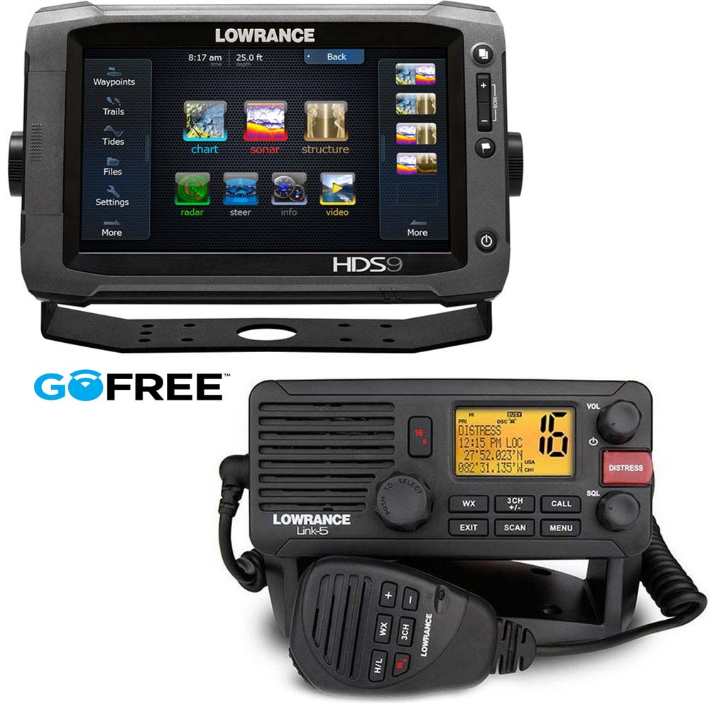 Lowrance HDS 9 Gen2 Touch with Link 8 VHF