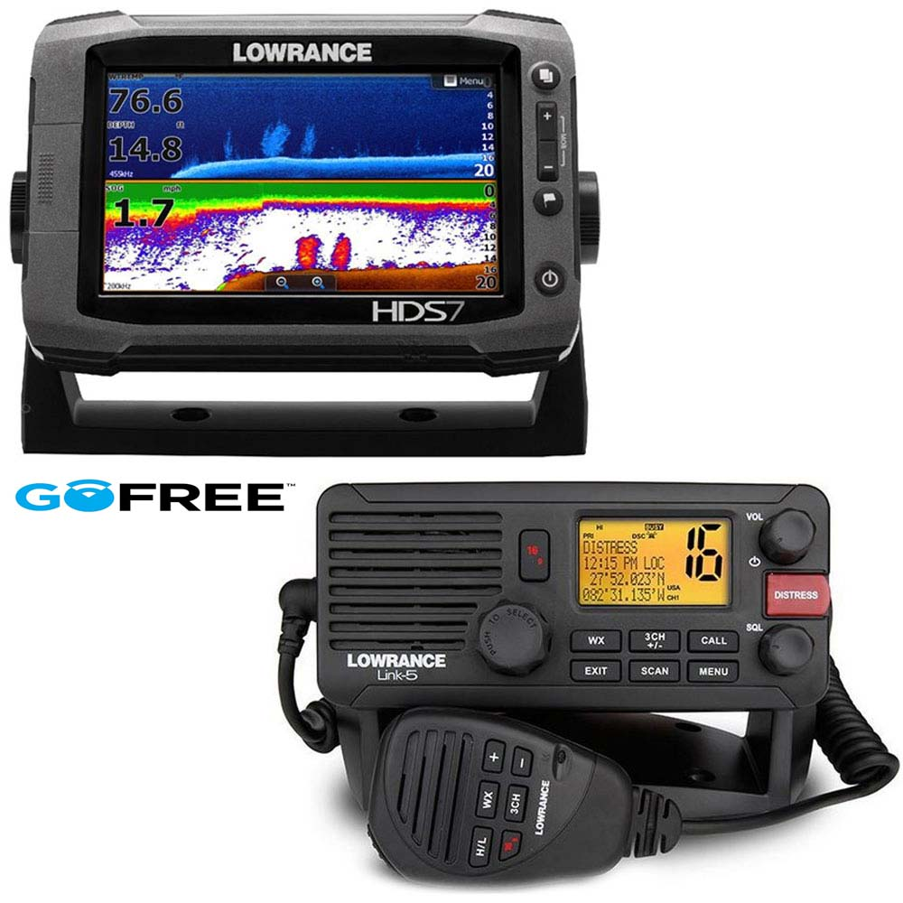 lowrance hds 7 gen2 touch row transducer link 8 vhf. Black Bedroom Furniture Sets. Home Design Ideas