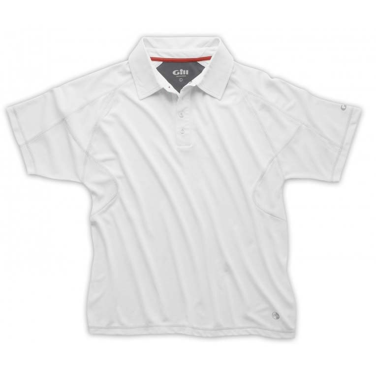 Gill Crew Polo - White XL