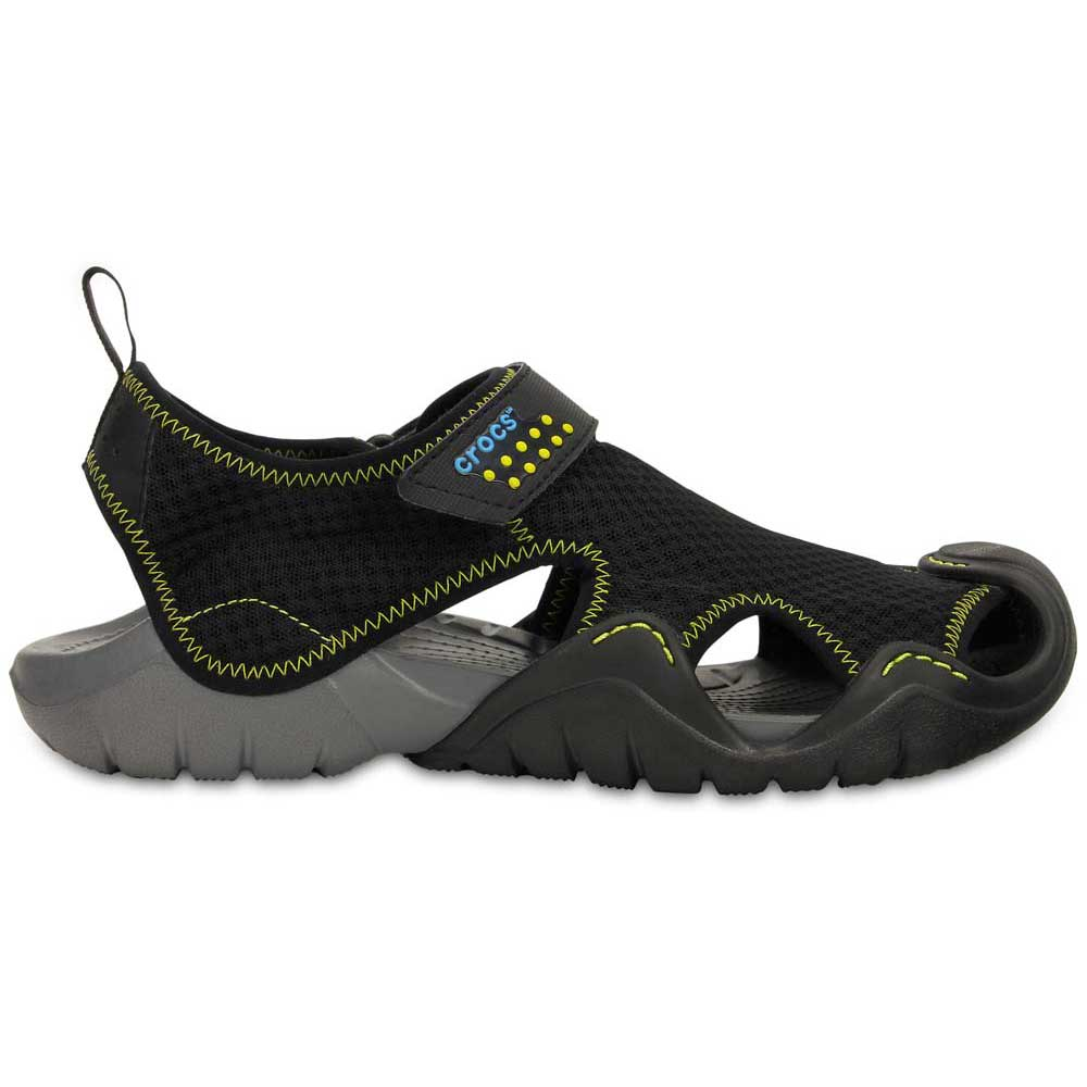 94e5b8295f2644 Crocs Swiftwater Sandal Black buy and offers on Waveinn
