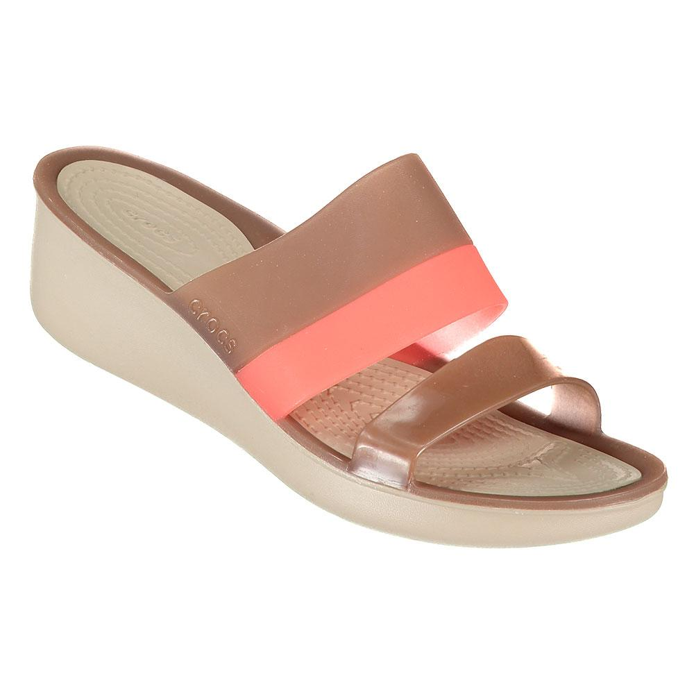 Crocs Colorblock translucent mini wedge