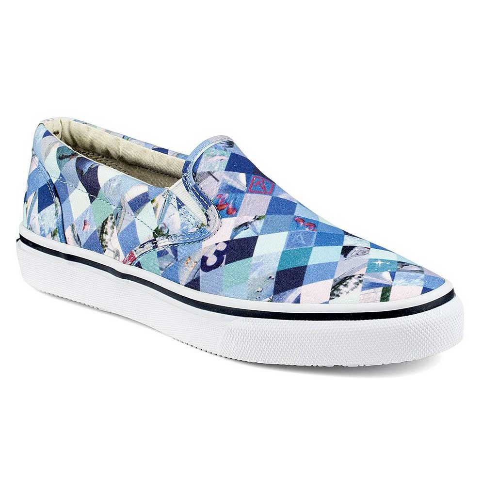 Sperry Striper Slip On Diamond Print