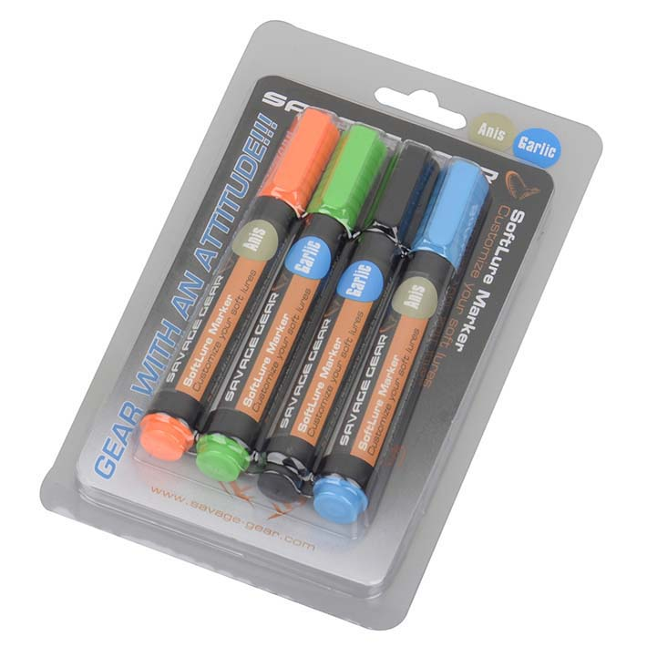 savage-gear-magic-softlure-marker-kit-one-size-orange-green-black-blue