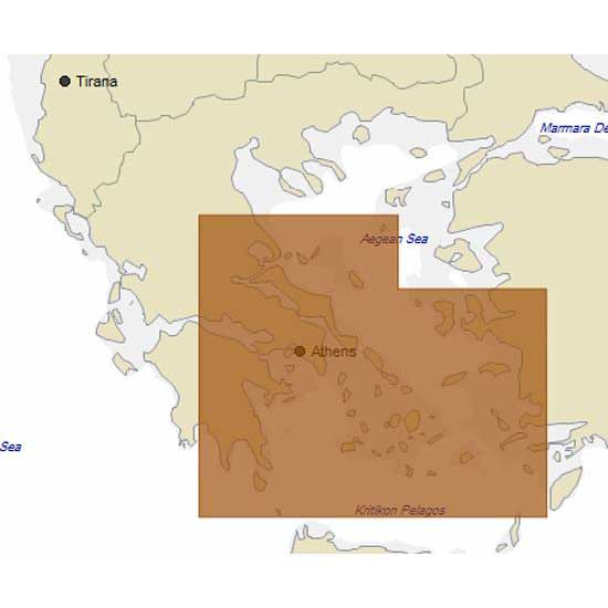 C-map 4D Max Local Central Part of Aegean Sea