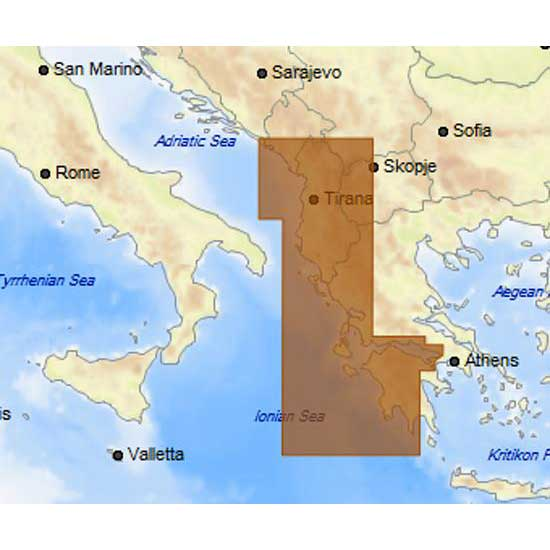 C-map 4D Max Local West of Greece Albania Montenegro