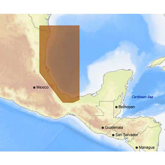 C-map 4D Max+ Local Brownsville to Coatzacoalcos