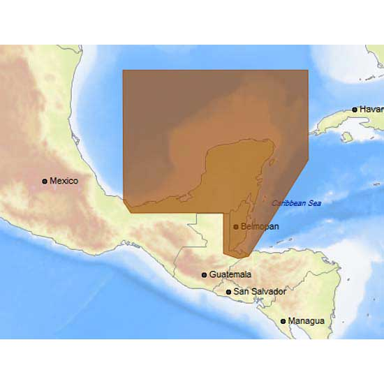 C-map 4D Max+ Local Coatzacoalcos to Honduras Bay