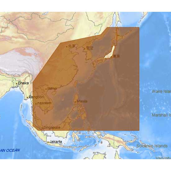 C-map 4D Max+ Wide North Asian Continental