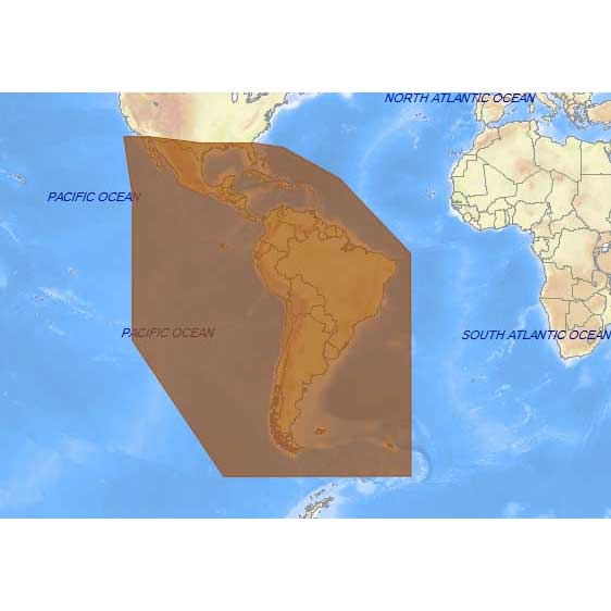 C-map 4D Max+ Wide South America and Continental Caribbean