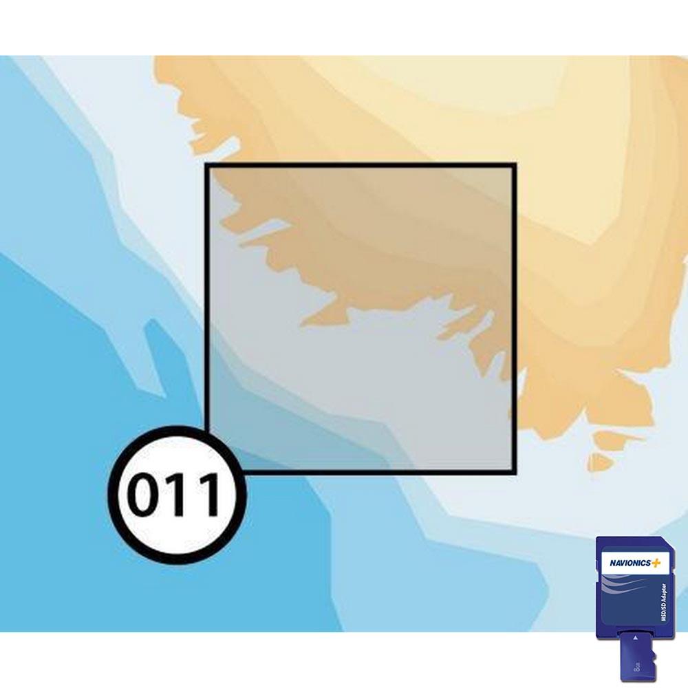 Navionics SCANDINAVIA áreas pequeñas en la tarjeta SD//MSD
