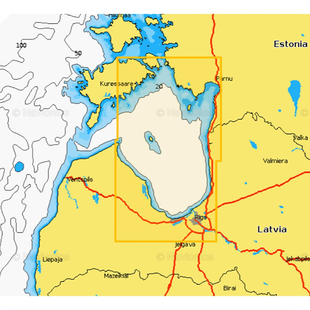Navionics Navionics+ Small West of Latvia