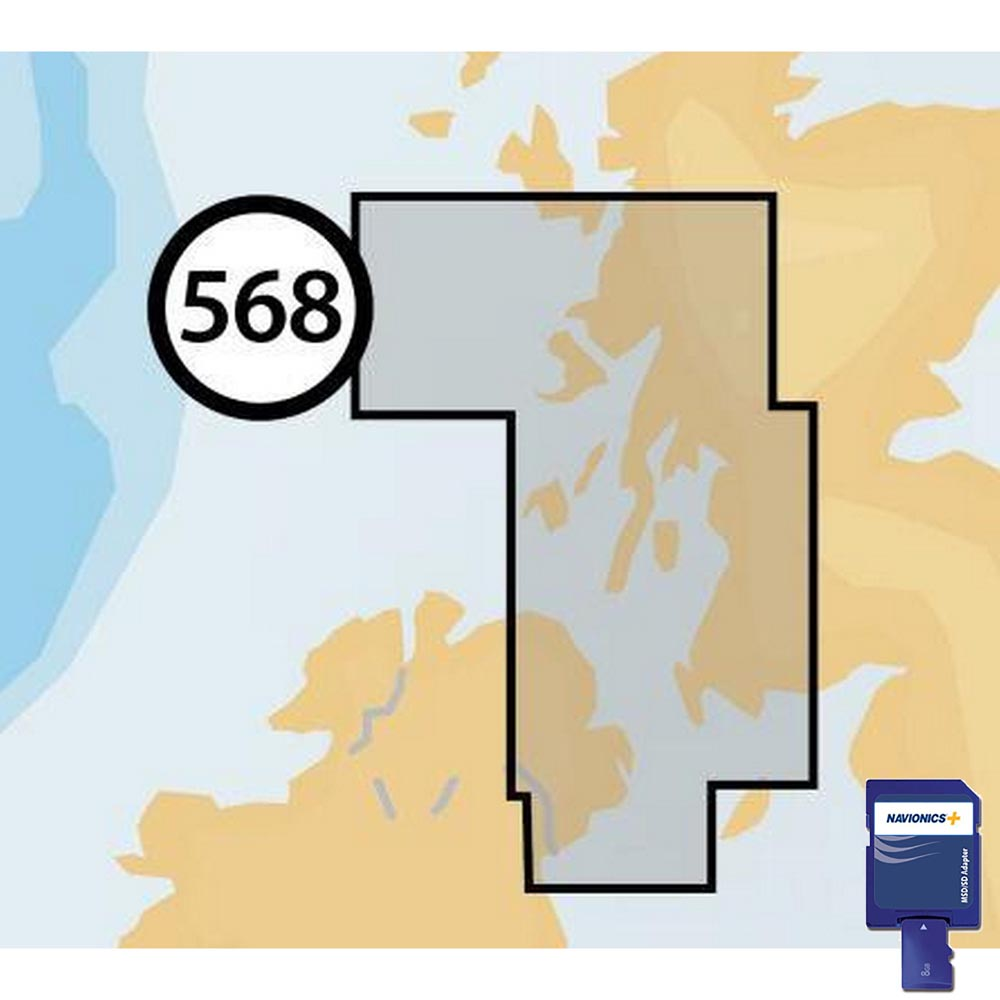 Navionics Navionics+ Small SD West of Scotland