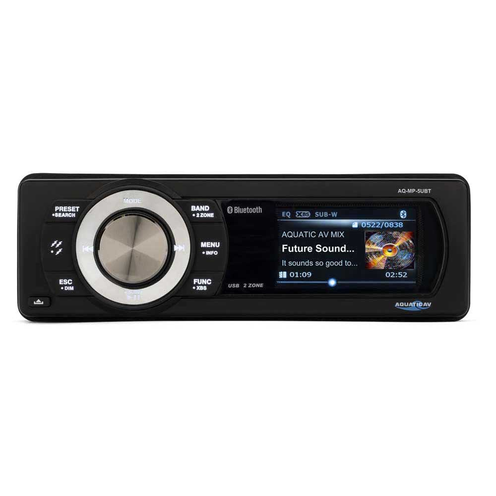 Aquatic av Bluetooth, USB, SiriusXM Waterproof Marine Stereo AQ-MP-5UBT-S