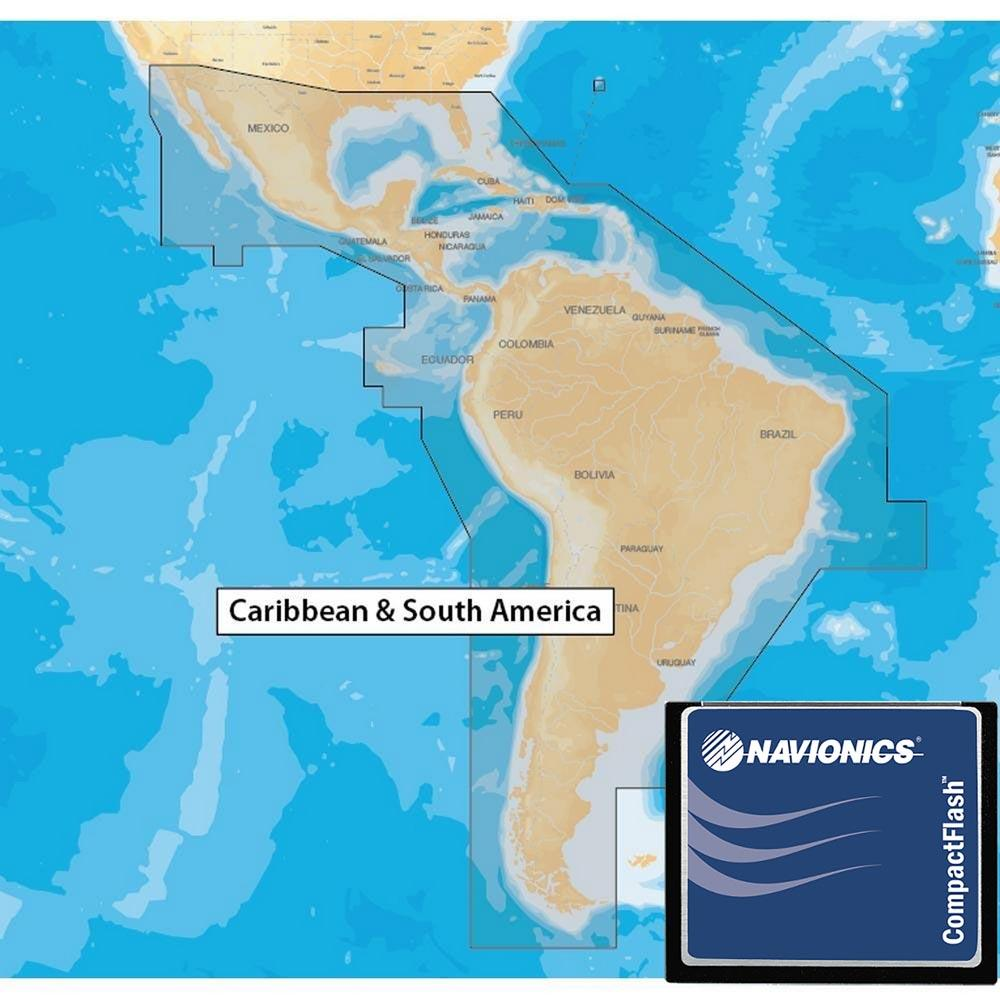 Navionics Navionics+ Xl9 Central America and South America 3XG