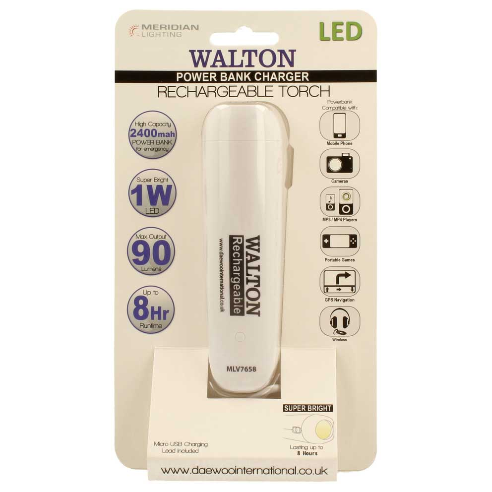 Walton Powerbank Charger and Emergency Led Torch