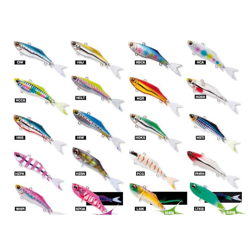 Duel Hardcore Fintail Vibe 70S F1186 fishing lures original range of colors