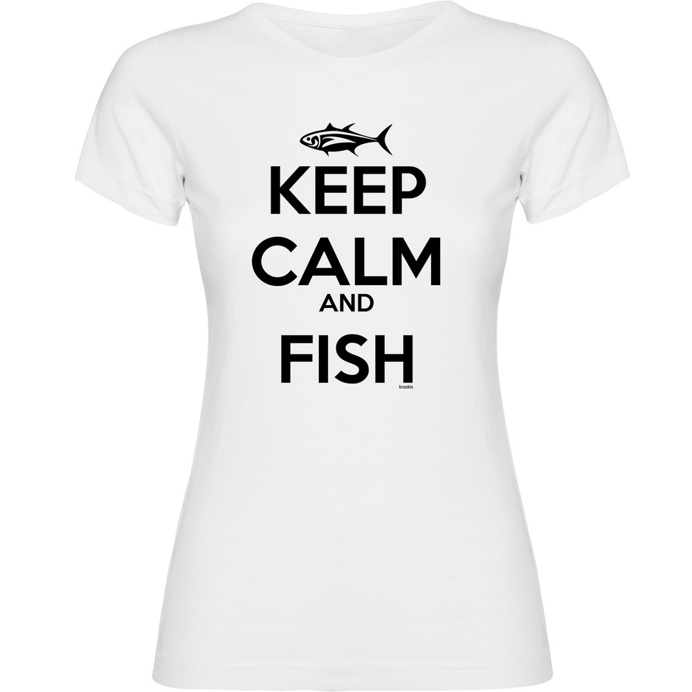 7e38f15e6ed Kruskis Keep Calm and Fish Woman White buy and offers on Waveinn