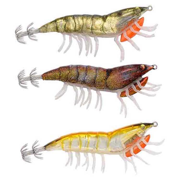 Savage Gear 3D Hybrid Shrimp Egi Jig Garnelen Imitation zum Meeresangeln auf Tintenfisch /& Oktopus Meeresk/öder