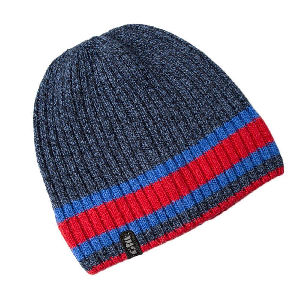 kopfbedeckung-gill-melange-knit-beanie-one-size-navy