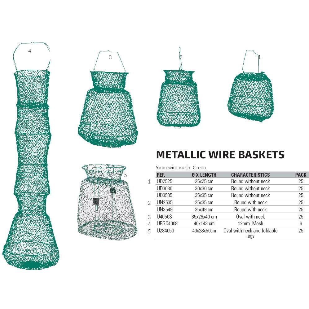strumenti-evia-metallic-wire-baskets-round-with-neck-9-mm