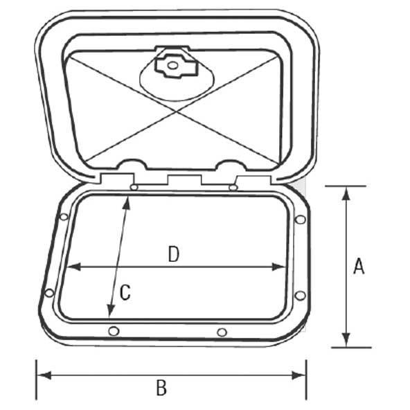 equipement-de-pont-nuova-rade-top-line-with-lock-243x607mm