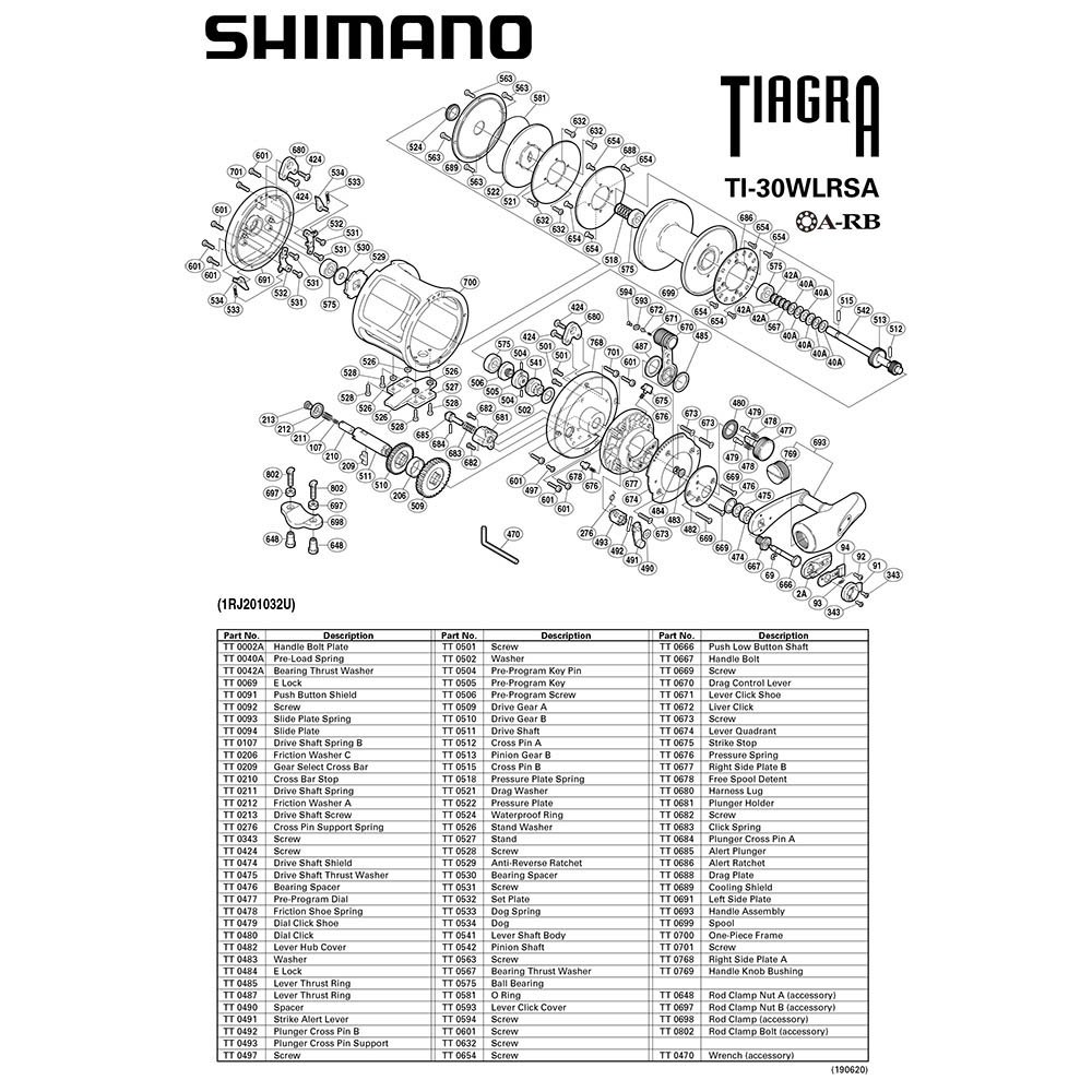 angelrollen-shimano-tiagra-30wlrsa-one-size