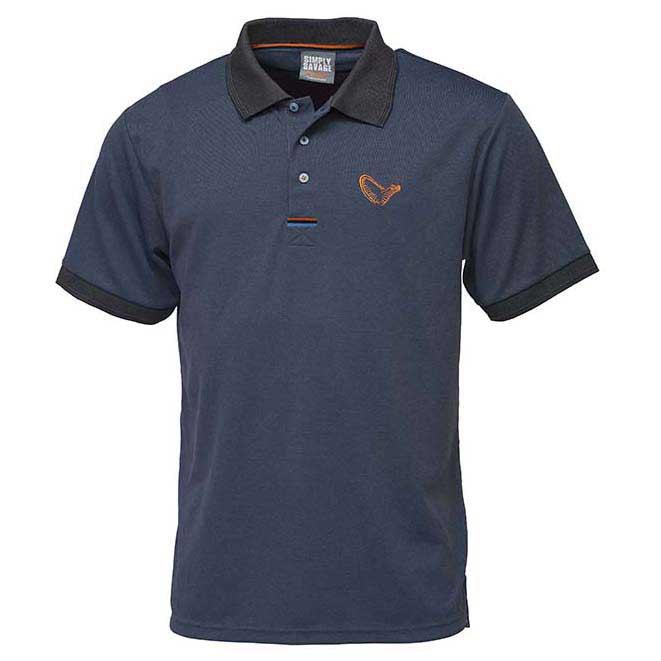 polo-shirts-savage-gear-simply-savage-3-stripes-s-blue