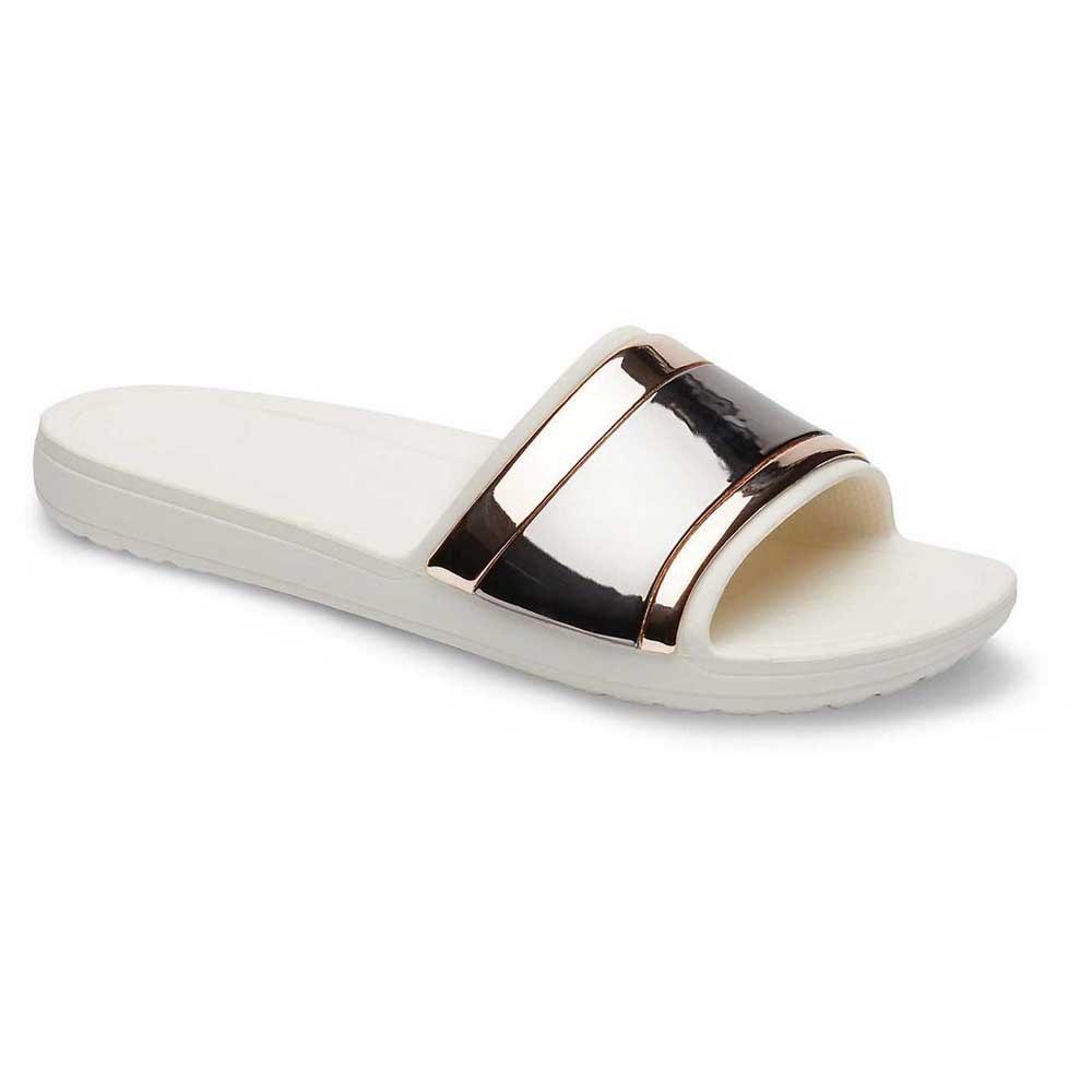 Crocs Sloane MetalBlock Slide White buy