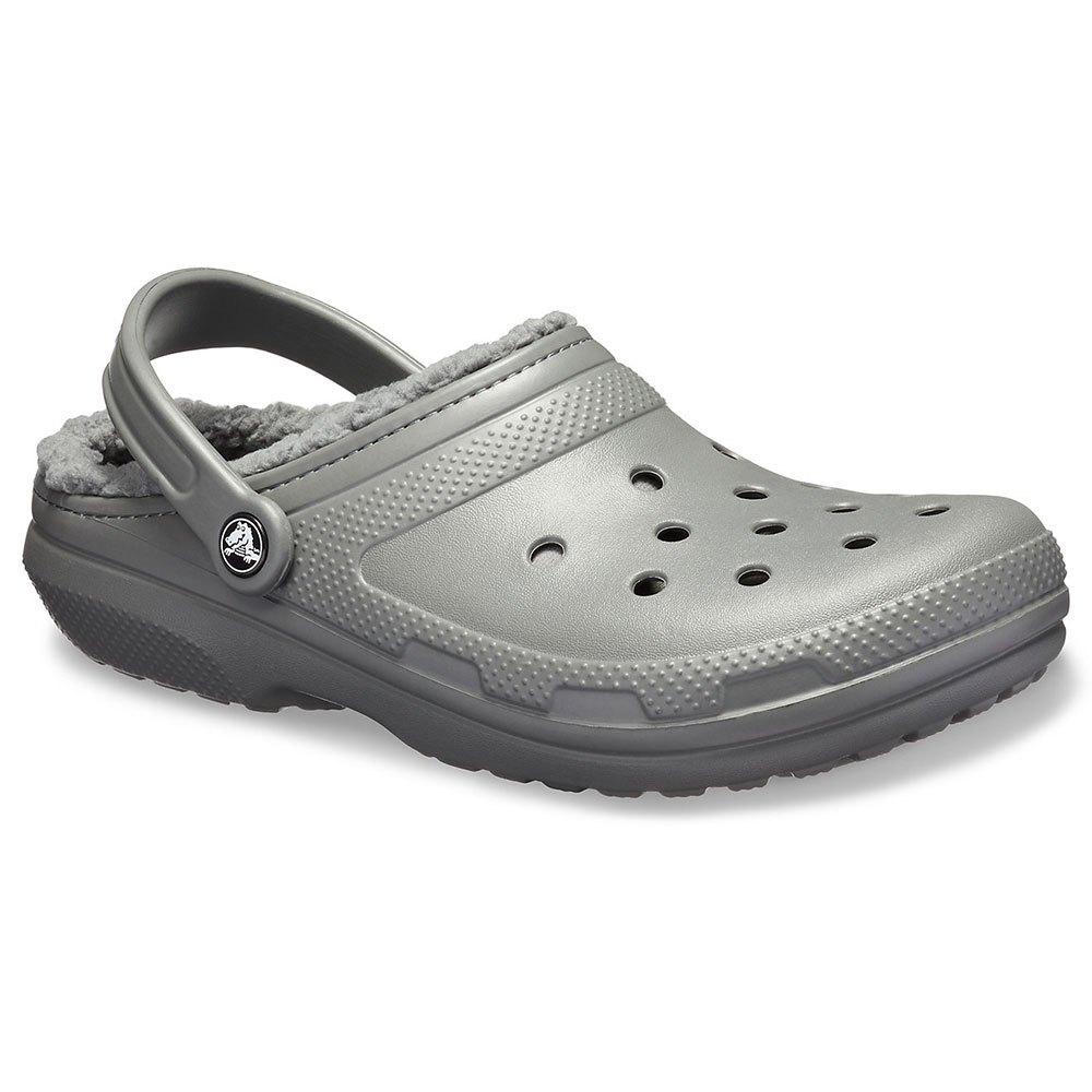 Crocs Classic Lined Clog グレー, Waveinn