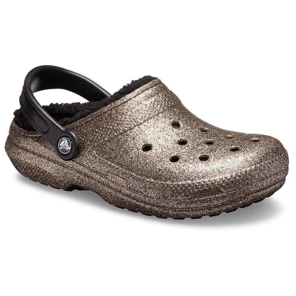 Crocs Classic Glitter Lined Clog Черный