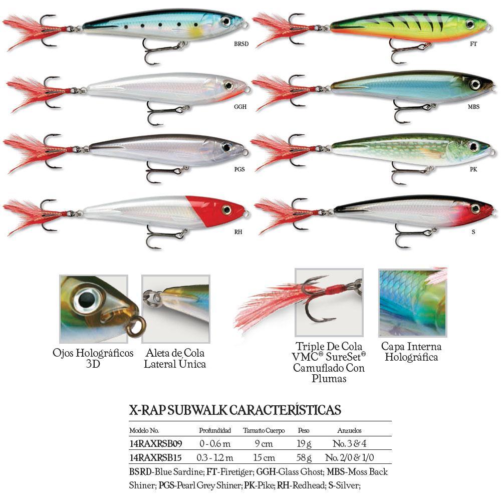 Silver Rapala X-Rap SubWalk 15 Fishing Lure