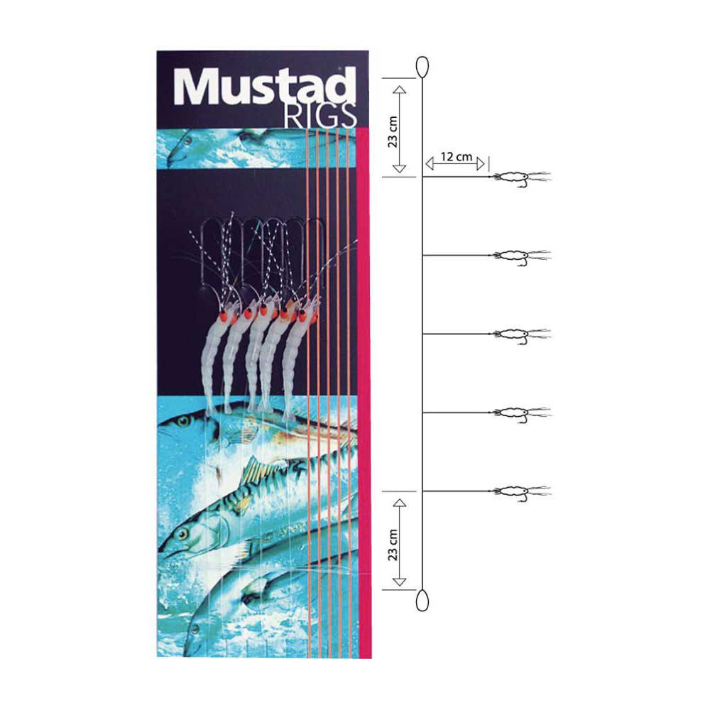 haken-mustad-sabiki-rig-t52-luminous-shrimp-2-5-hooks, 2.99 EUR @ waveinn-deutschland