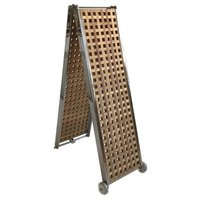 Lalizas Boarding Bridge Grid Wood/Stainless Steel Foldable